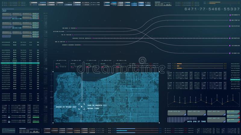 HUD Biomedical Diagnostic futuriste illustration de vecteur