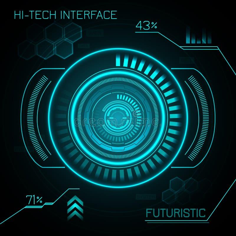 Download Hud Futuristic Background stock vector. Illustration of design - 47722766