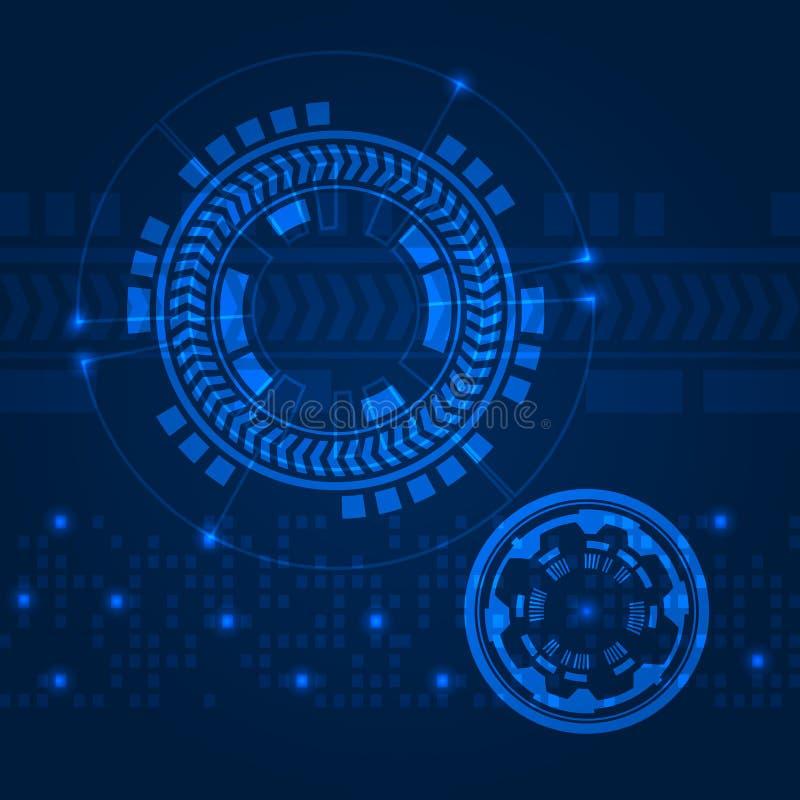 HUD-gebruikersinterfacegrafische reeks Het radar infographic scherm Virtueel UI-element Het moderne malplaatje van de gegevenslay vector illustratie