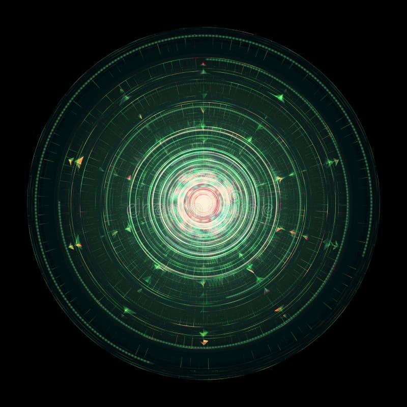 Hud gr?fico virtual futurista da interface de utilizador do toque ilustração royalty free