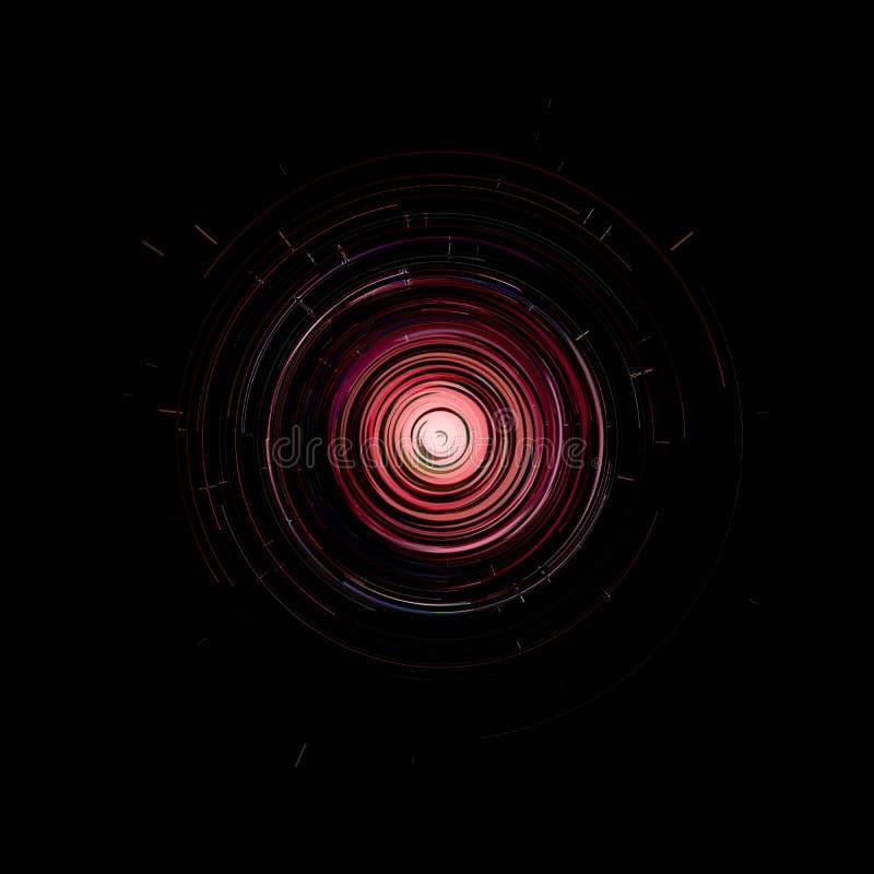 Hud gr?fico virtual futurista da interface de utilizador do toque ilustração stock