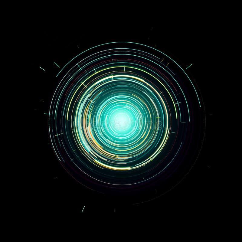 Hud gr?fico virtual futurista da interface de utilizador do toque ilustração do vetor