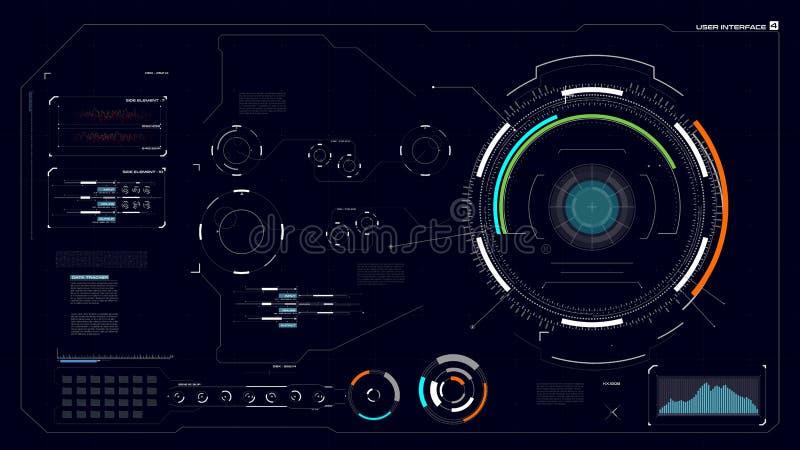 HUD GUI interfejs 004 ilustracja wektor