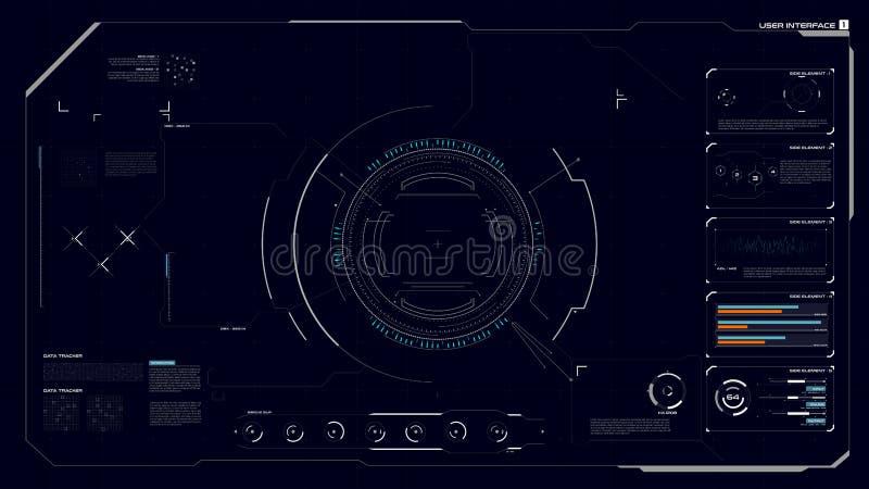 HUD GUI interfejs 001 ilustracja wektor