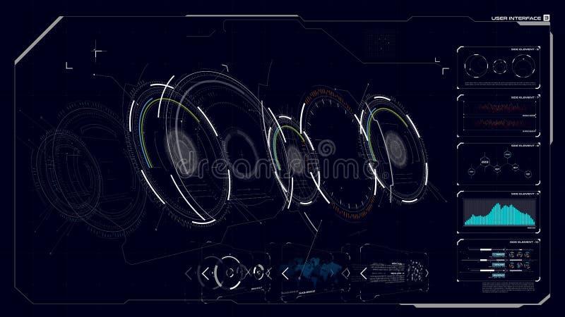 HUD GUI interfejs 003 ilustracja wektor