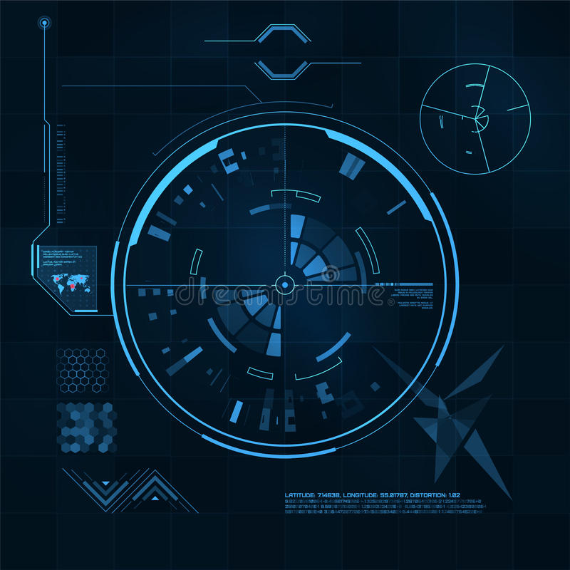 HUD and GUI set. Futuristic User Interface. royalty free illustration