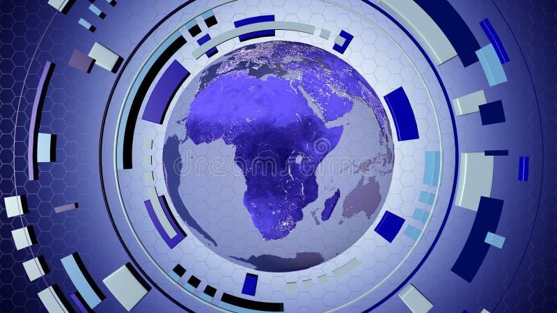 Hud interativo dos meios com um globo da terra ilustração do vetor