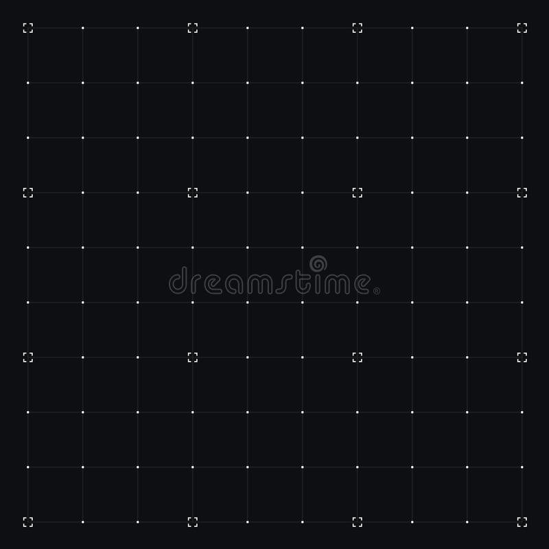HUD interface with Grid. Vector stock illustration