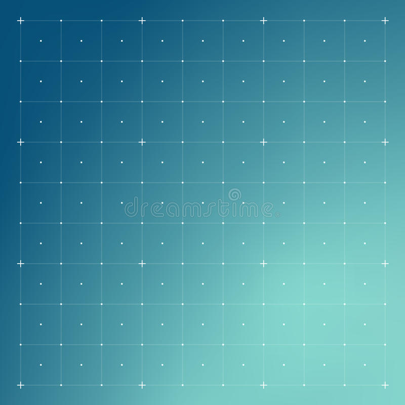 HUD interface with Grid vector illustration