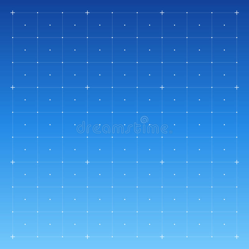 HUD interface with Grid. Vector royalty free illustration