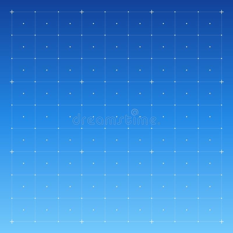 HUD-interface met Net royalty-vrije illustratie