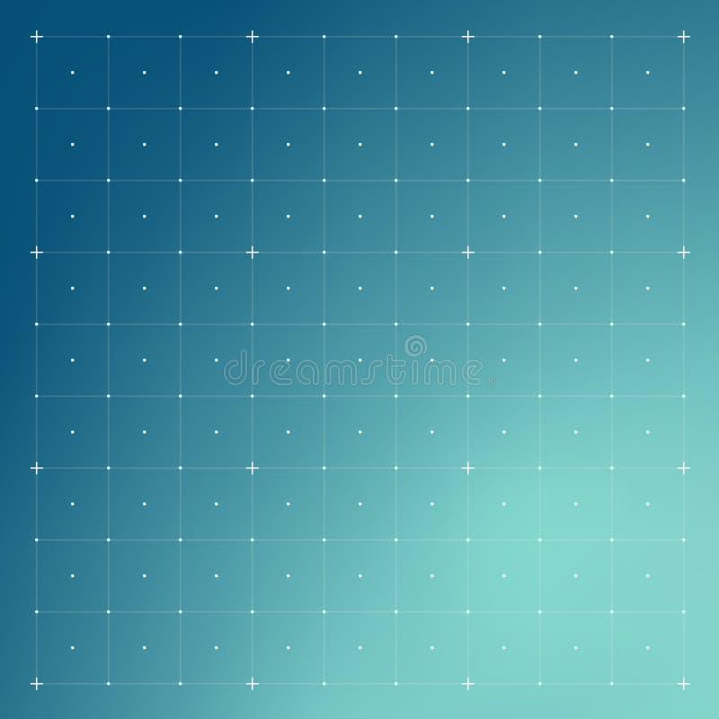 HUD interfejs z siatką ilustracja wektor