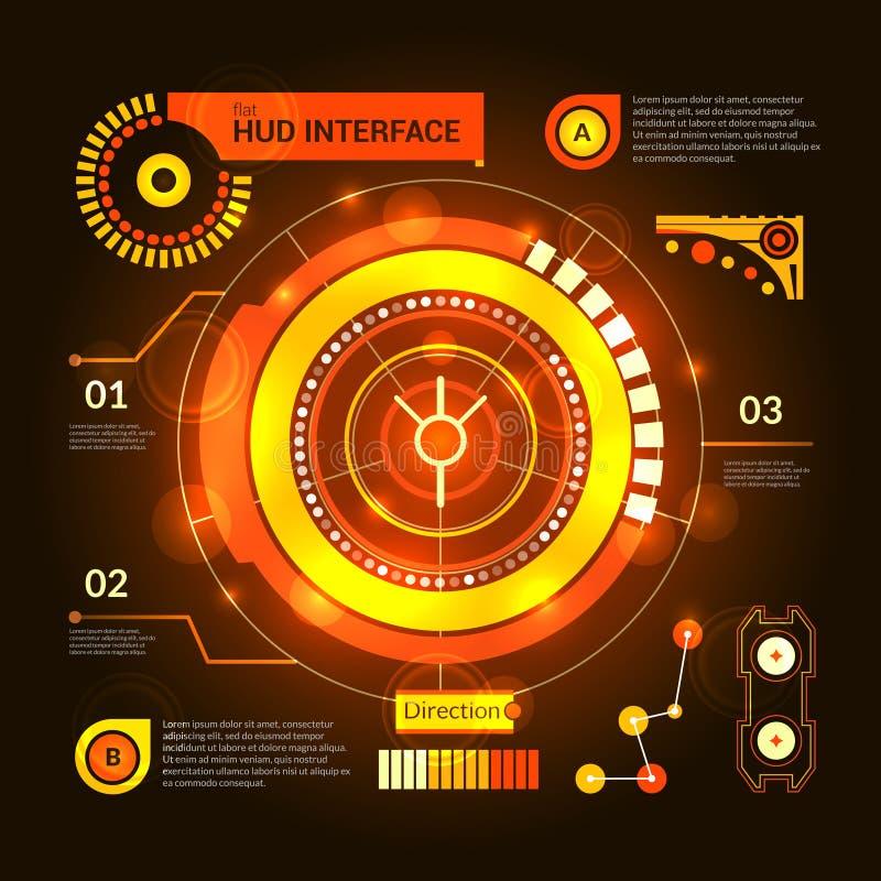 Hud interfejsu pomarańcze ilustracji