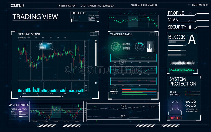 HUD UI dla biznesu app ilustracja wektor