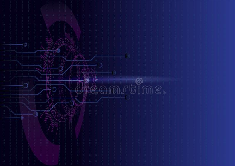 HUD UI interface with digital futuristic cyber security theme vector illustration