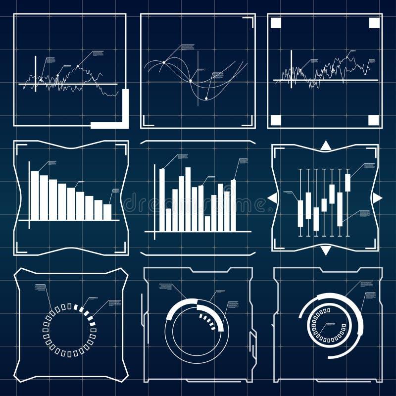HUD UI voor zaken app stock illustratie