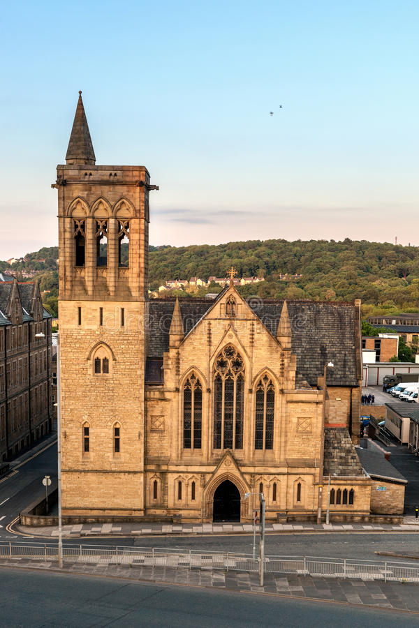 Huddersfield Church. Church in Huddersfield a market town situated in West Yorkshire, England stock image