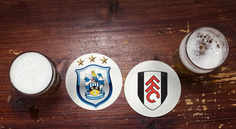 Huddersfield contre Fulham photographie stock