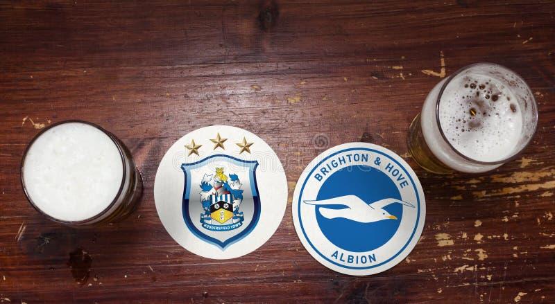 Huddersfield Town contre brighton photographie stock libre de droits