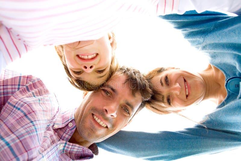 huddle семьи стоковые фотографии rf