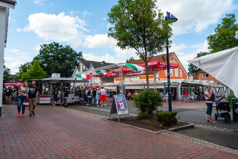 Hude, Germany, July, 21 2019: the day after the italian night in the municipality of hude lower saxony stock image