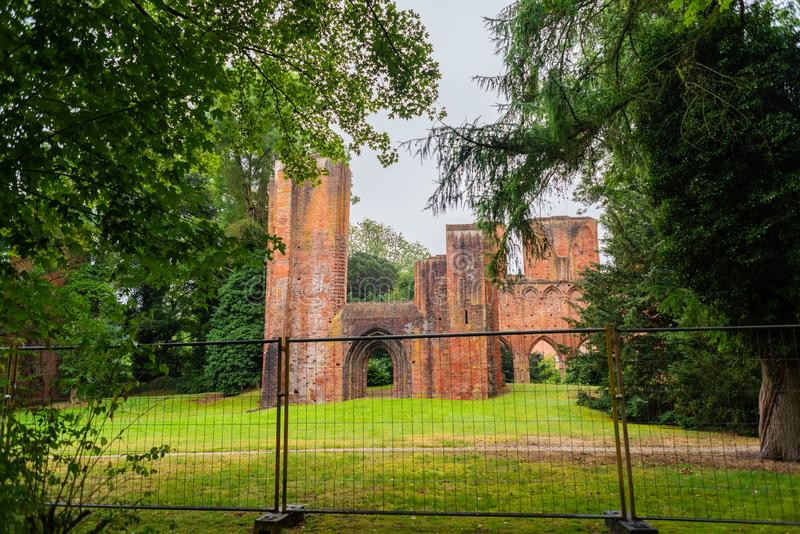 Hude, Lower Saxony, Germany - July 13, 2019 Monastery ruins Hude royalty free stock images
