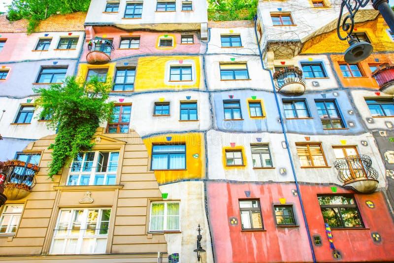 Huderwasser building in Vienna stock images