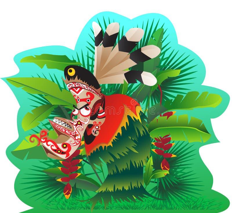 Download Hudoq dancer stock illustration. Image of dancer, myth - 25966444