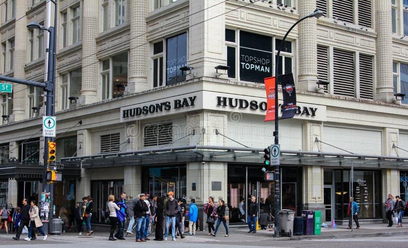 Hudson湾公司,温哥华, B C 库存照片