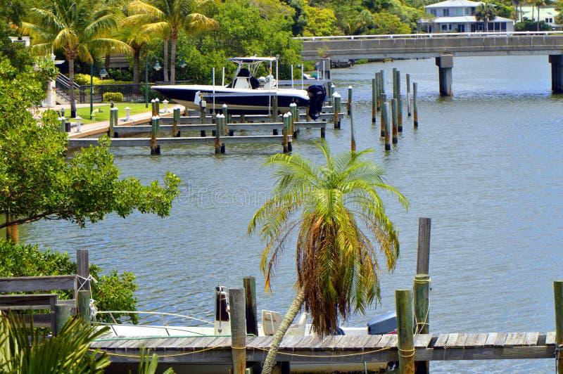 Hudson Bayou em Sarasota foto de stock royalty free
