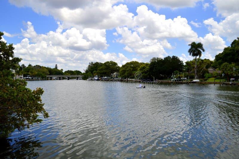 Hudson Bayou en Sarasota imagenes de archivo