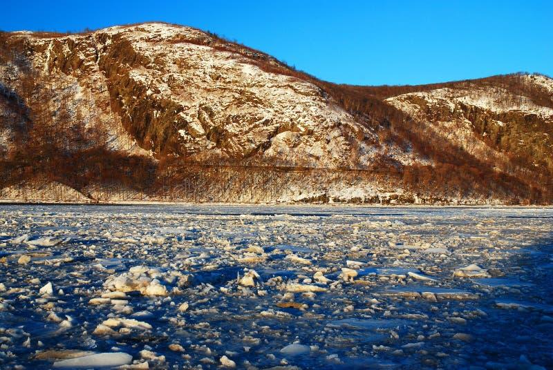 Hudson ghiacciato a re della tempesta immagini stock libere da diritti