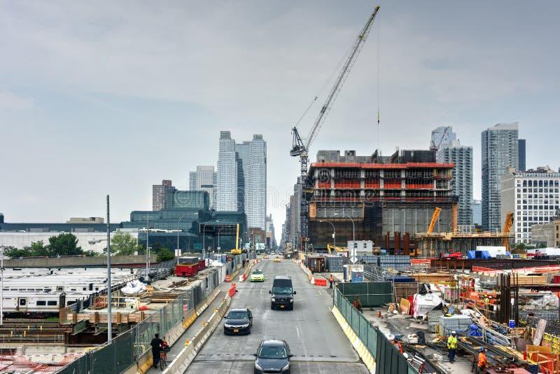 Hudson jardów budowa obrazy stock