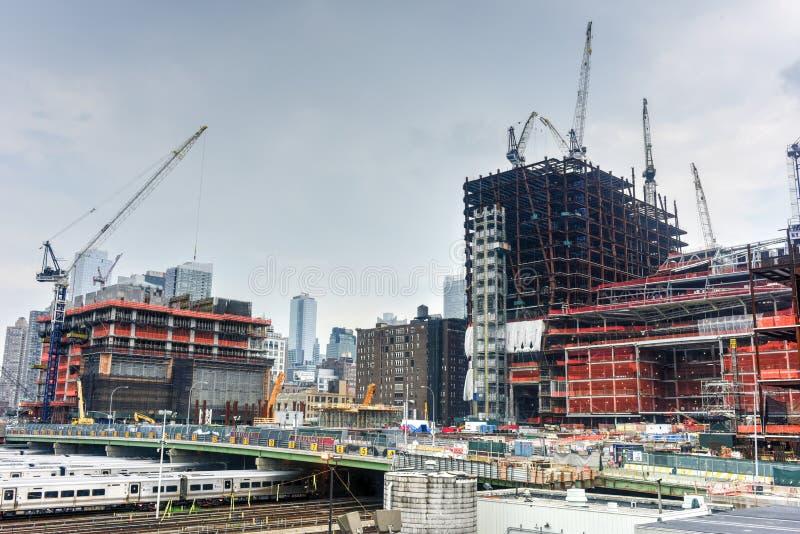 Hudson jardów budowa zdjęcie stock