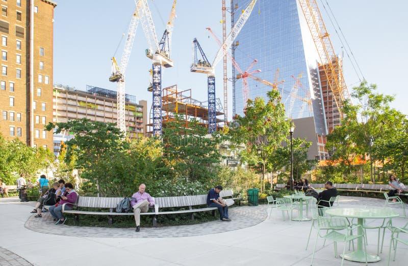 Hudson jardów park, NYC obrazy royalty free