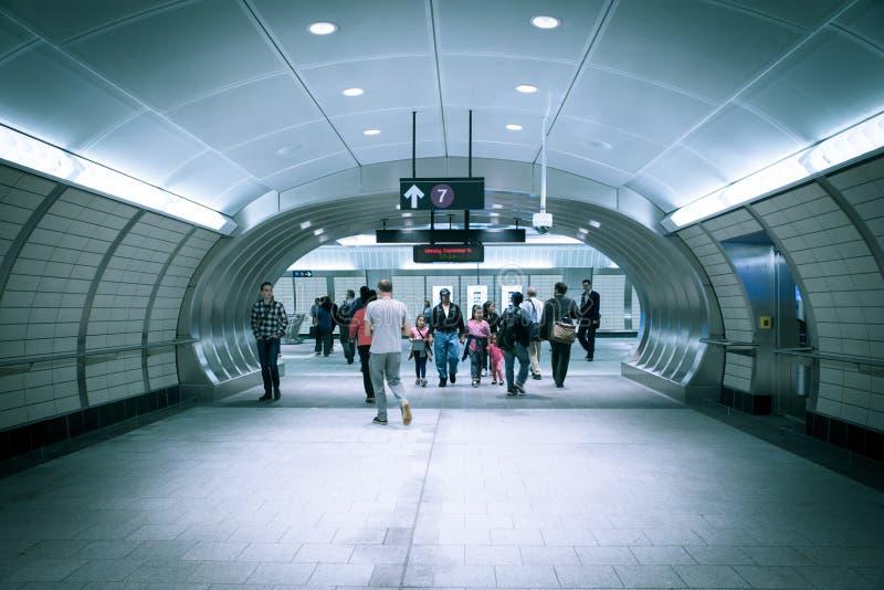 Hudson jardów stacja metru NYC zdjęcia royalty free