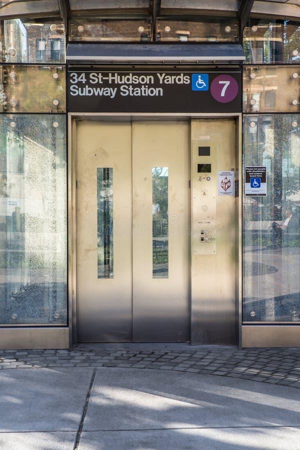 Hudson jarda stacja metru NYC obrazy stock