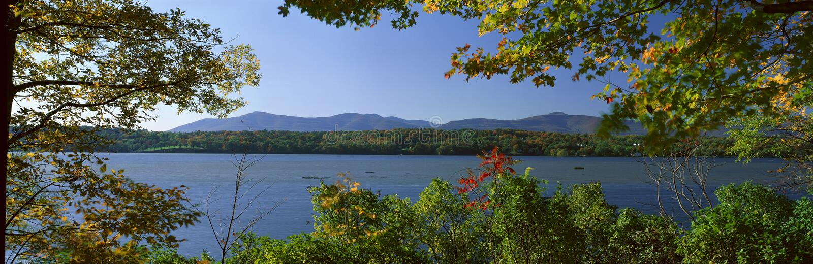 Hudson River In Autumn, Rhinebeck, New York royalty free stock photography