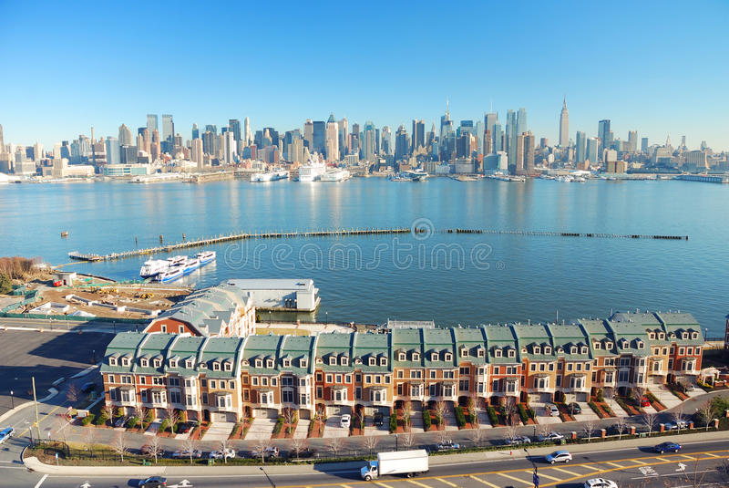 Hudson River, New York City Panorama Stock Photos