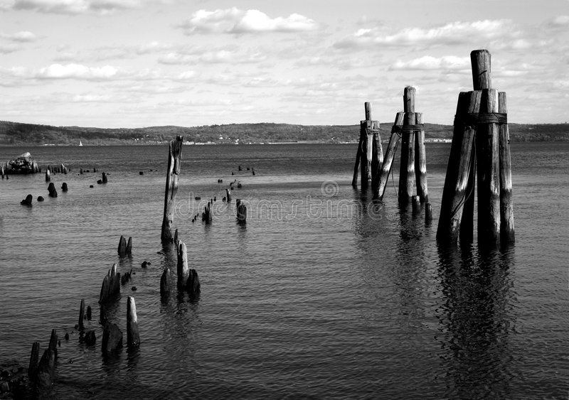 Download Hudson River Scenic stock photo. Image of autumn, pilings - 1433928
