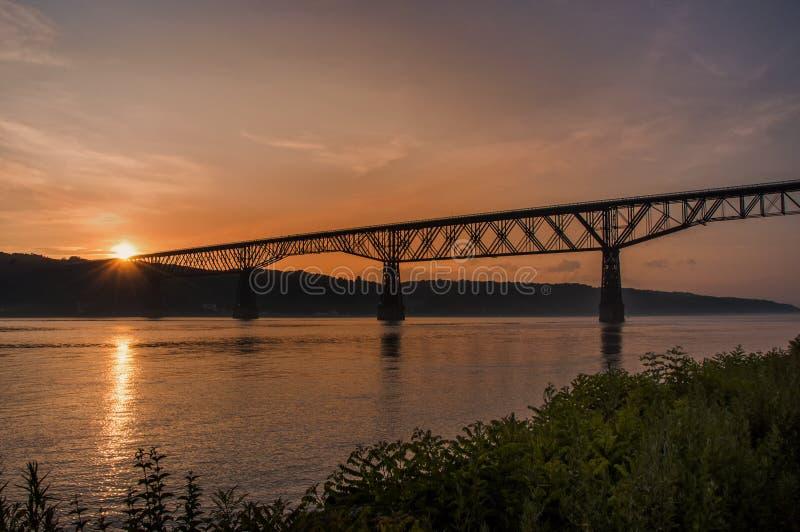 Hudson River Sunset fotografia stock libera da diritti