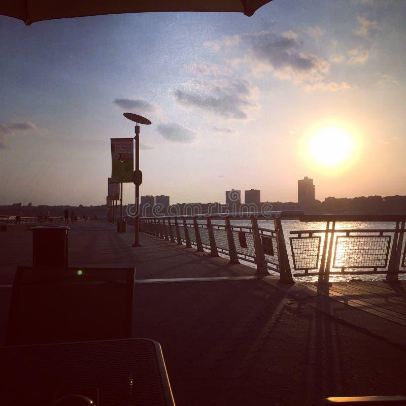 Hudson River Sunset royalty-vrije stock afbeeldingen