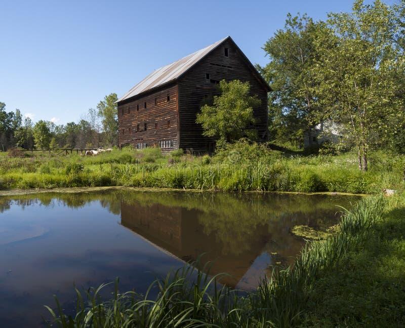 Hudson Valley Barn anziano fotografia stock libera da diritti