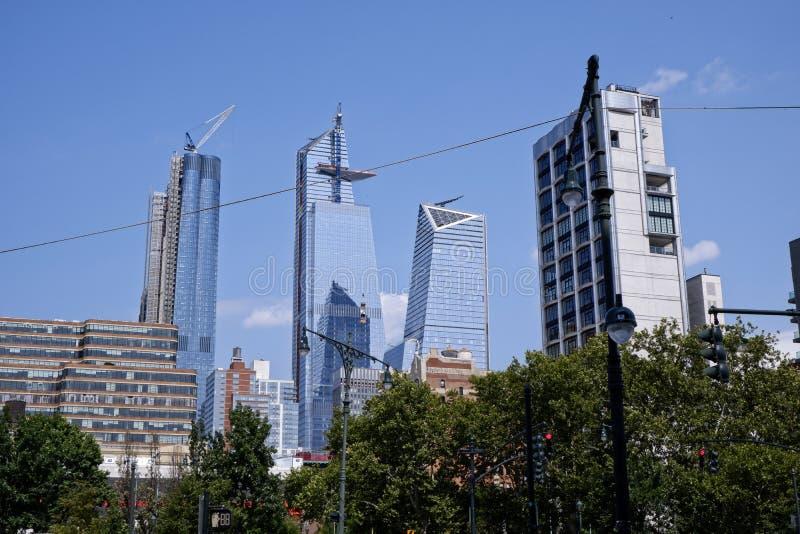 Hudson Yards-het naderbij komen voltooiing -2 royalty-vrije stock afbeeldingen