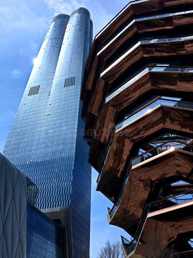 Hudson Yards i New York City royaltyfri foto