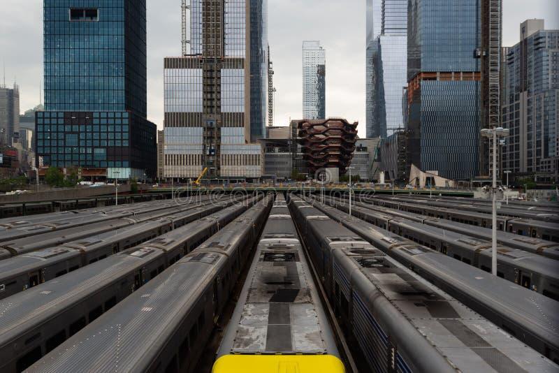 Hudson Yards Subway, New York, Stati Uniti immagini stock