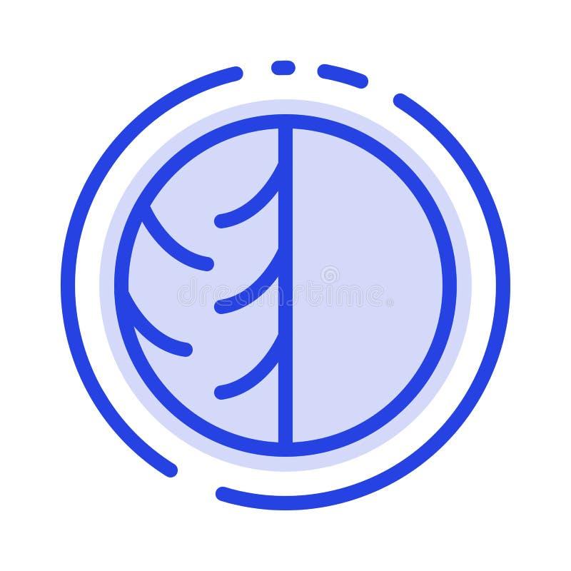 Hudspecialist dermatologi, torr hud, hud, hudomsorg, hud, blå prickig linje linje symbol för hudskydd vektor illustrationer