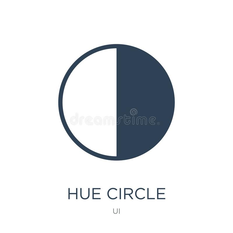 Hue circle icon in trendy design style. hue circle icon isolated on white background. hue circle vector icon simple and modern. Flat symbol for web site, mobile stock illustration