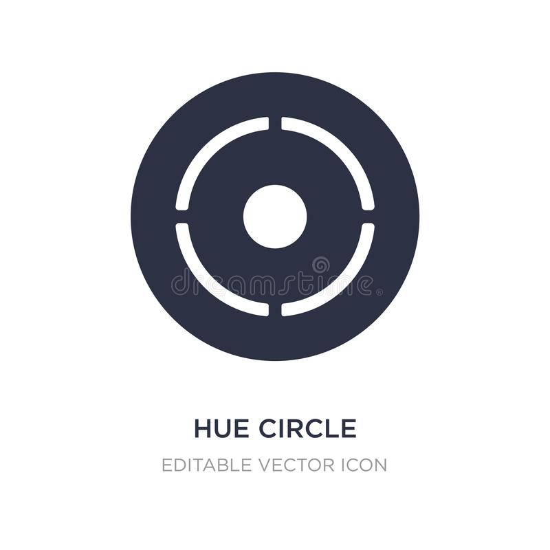 Hue circle icon on white background. Simple element illustration from UI concept. Hue circle icon symbol design royalty free illustration