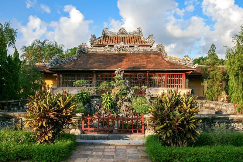 Hue Citadel garden house. Hue, Vietnam. Vietnamese building architecture history tourism landmark asia ancient travel heritage palace asian imperial unesco stock photography